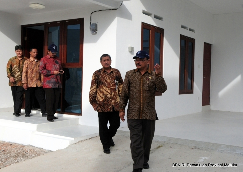 Wakil Ketua BPK RI, Hasan Bisri, S.E., M.M., melakukan kunjungan ke rumah dinas Perwakilan BPK RI Provinsi Maluku