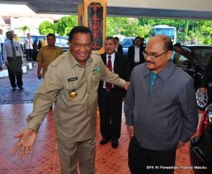 Gubernur Maluku menyambut Wakil Ketua BPK