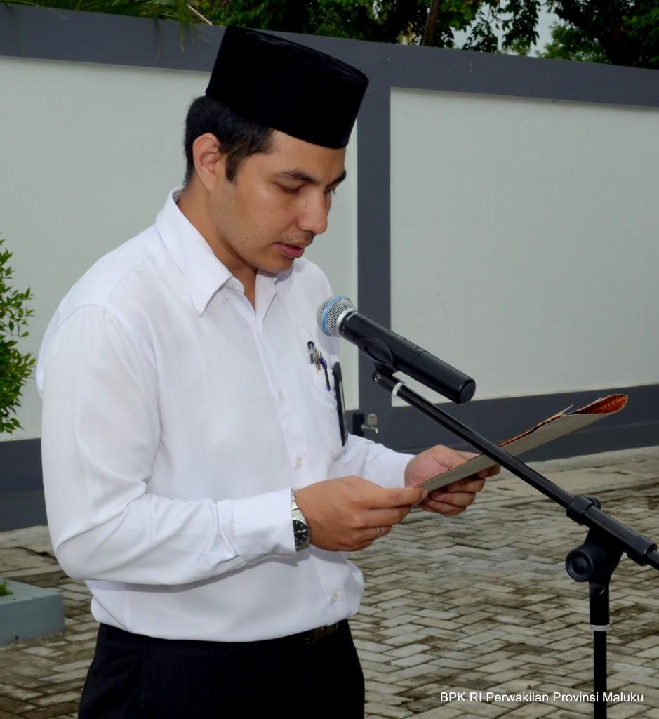 Upacara ditutup dengan pembacaan Doa oleh Saudara Stefino Anggara, S.H.