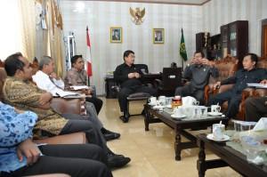 Suasana Diskusi BPK RI Perwakilan Provinsi Maluku dengan Kejaksaan Tinggi Maluku