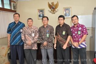 Foto Bersama Rombongan BPK RI Perwakilan Provinsi Maluku dengan Perwakilan BPKP Provinsi Maluku