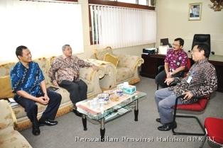 Suasana Diskusi Antara BPK RI Perwakilan Provinsi Maluku Dengan Perwakilan BPKP Provinsi Maluku