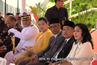 Kepala Perwakilan, (dua dari kanan) bersama jajaran Pemerintah daerah Se-Provinsi Maluku