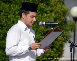 Sebagai Pembaca Doa adalah Saudara Stefino Anggara