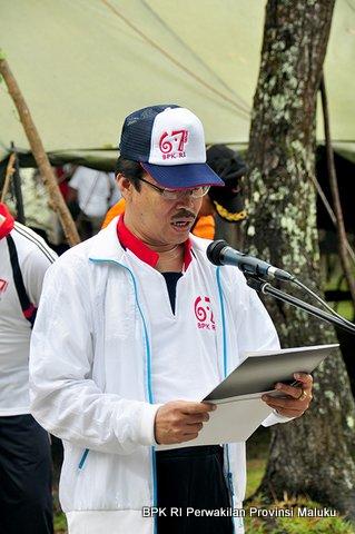 Laporan dari Ketua Panitia Family Gathering BPK RI Perwakilan Provinsi Maluku, Bapak M. Satria Budy