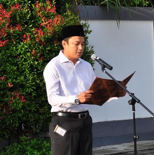 Saudara Akhmad Faiz Mubarok Membacakan Sejarah Singkat BPK