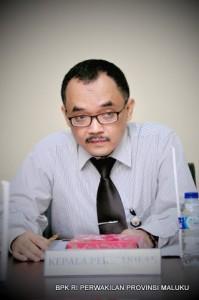 Kepala Perwakilan Provinsi Maluku Bapak Novian Herodwijanto menyampaikan sambutan terkait Laporan Hasil Pemeriksaan BPK RI atas Laporan keuangan Kabupaten Maluku Tenggara Barat TA. 2013.