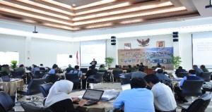 Suasana Ruangan dalam Acara Pemantauan Tindak Lanjut Se-Provinsi Maluku Tahun 2015