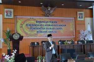 Kepala Perwakilan BPK Provinsi Maluku membuka Acara Bimbingan Teknis Pemeriksaan LKPD Berbasis Akrual Tahun 2016