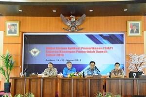 Kepala Perwakilan BPK Provinsi Maluku Menutup Acara Diklat SiAP Tahun 2016