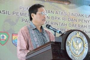 Kepala Perwakilan memberikan sambutan sekaligus membuka kegiatan PTL dan Penyelesaian Kerugian Daerah