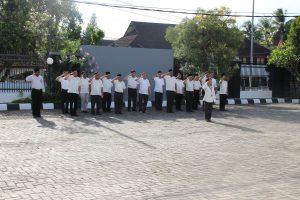 Pegawai BPK Perwakilan Provinsi Maluku sebagai Peserta Upacara