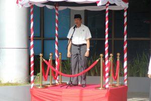 Kepala Sekretariat Perwakilan Sebagai Inspektur Upacara