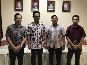 Kepala Sub Bagian Hukum BPK Perwakilan Provinsi Maluku bersama Para Penyidik Ditreskrimsus Polda Maluku